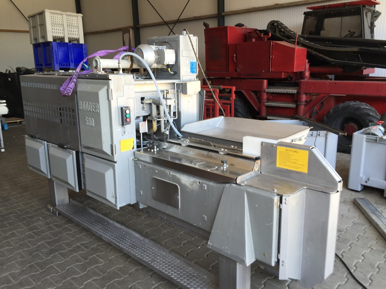 Filleting machine baader 580 for Fish fillet machine