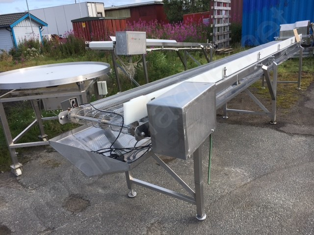 Conveyors for fish processing factories