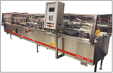 Sprinter carton forming and sealing line